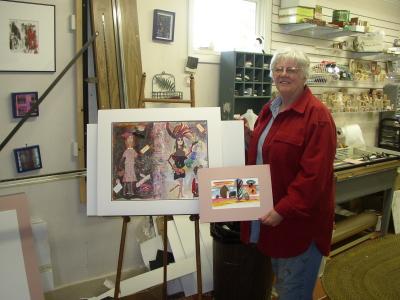 Anne in her Studio In Lanesgorough, Ma
