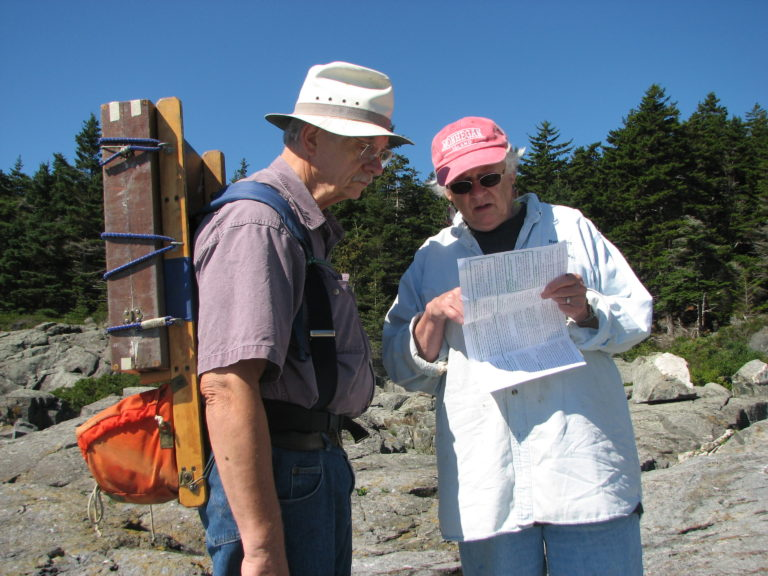 Walt & Anne Looking For Painting Site, Monhegan, Me