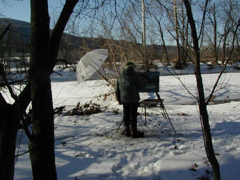 Walt Painting The Hoosic River, Pownal, Vt