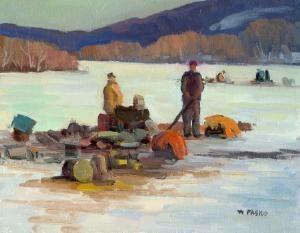 Ice Fishing On Cheshire Lake
