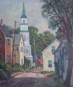 A Street In Rockport, Cape Ann. Ma