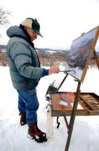 Walt Painting At Greylock Glen, Adams, Ma